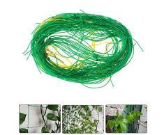 Shihao159 Rete a graticcio in Nylon, utile per rampicanti per Fagioli, Fiori, Viti, Petunia, Rete Verde, Rete per Piante in Vaso e Uccelli