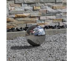 Sfera decorativa 15cm in acciaio inox V2A lucidato decorazione per Giardino Casa Terrazza Balcone sfera cava galleggiante laghetto gioco d'acqua stagno