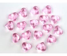 30 sassi decorativi cuore rosa chiaro 2,1 cm strame matrimonio battesimo Natale decorazione tavola