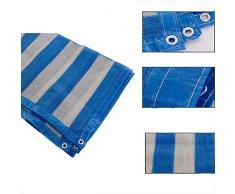 TANG CHAO Rete parasole 6 pin/rete ombreggiante blu e bianca/antiage / balcone giardino filtro solare netto/giardinaggio ispessimento criptato ombrellone carnoso (dimensioni : 5x5m)