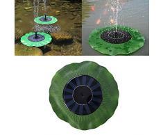 Fontana a energia solare, a forma di foglia di loto, per laghetto, monocristallino, a energia solare, galleggiante, pompa per laghetti da giardino o fontane a zampillo