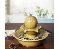 longxiesheng Home Ornamenti Moderni in Ceramica Europei Salone d'Acqua Feng Shui Lucky Office Water View Office Piccola Fontana Regali: