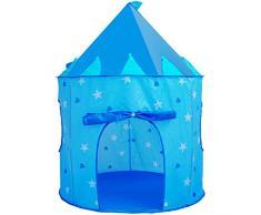 Georgie Porgy Portatile Pieghevole Bambini Tenda Dellinterno del Castello Allaperto Bambini Giardino Giocattolo Blu Tenda Gratuito per Luce a LED