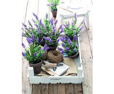 Mica Decorations 947673Â T pianta artificiale, in plastica, 20Â x 20Â x 33Â cm, colore: viola