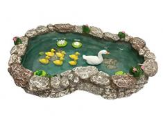 Laghetto per anatre - Anatra madre e anatroccoli Laghetto per anatre in miniatura da abbinare al giardino incantato in miniatura e agli accessori da giardino in miniatura di GlitZGlam