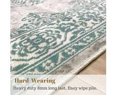 New Royal tappeto tradizionale beige Duck Egg look antico per casa 160 x 230 cm