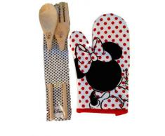 Disney Minnie Set Guanto da Forno e Mestoli