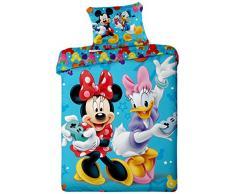 Jerry Fabrics per Bambiny Biancheria da Letto, 100% Cotone, Multicolore, 200x140x0.5 cm