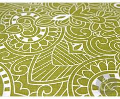 Just Contempo Set copripiumino stile barocco, colore verde, letto matrimoniale