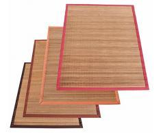 Bamboo Natural tappeto arredo listelli stretti varie misure. [TERRACOTTA] [140X200 CM.]