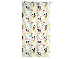 Disney Walt Tende a Velo Mickey Mouse, Poliestere, binco, Rosso, Arancione, Nero, cm. 140x290