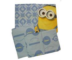 Minions 6100 673 1111 Completo Letto ad Una Piazza, 100% Cotone,30 x 40 x 3 cm, Colori Assortiti
