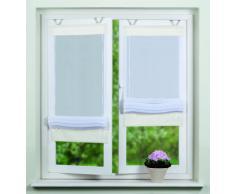 Home fashion 57105-801 - Tenda avvolgibile in Voile, 140 x 45 cm, Colore: Bianco