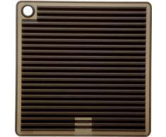 Mastrad F83401 Presina/sottopentola quadrata, in silicone, colore: Nero