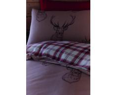 Catherine Lansfield - Set di biancheria per letto singolo Copripiumino 135 x 200 cm e Federa 50 x 75 cm