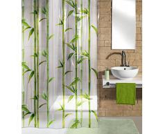 Kleine Wolke 5249625305 - Tenda per Doccia bambù, 180 x 200 cm, Colore: Verde Maggio