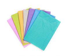 KING DO WAY 7 Pz 50cmX50cm DIY Tessuti Stampato Cotone per Cucire Stoffa a Metro Stoffe per Patchwork Piccolo Punto-7 Colori