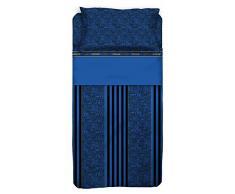 Inter Inter Completo Letto, Cotone, Nero/Blu, 240 x 295 cm/180 x 200 cm/52 x 80 cm