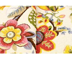 1001 Wohntraum 17jn21 Quilt bella fiori colorati, 220 x 230 cm, Coperta plaid copriletto, Vintage Shabby