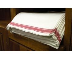 """Aunt Martha's 100% Cotone Stitch 'Em Up Retro Stripe 71,12 (18 x 45,72 cm x 28"""")-Confezione da 3 Strofinacci, Colore: Rosso a Righe, Colore: Rosso"""