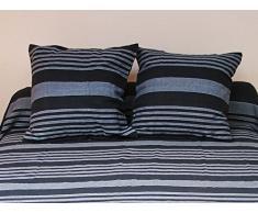 Fodera per cuscino 40 x 40 cm OLYMPE nera