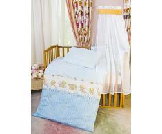 Sei Design - Biancheria da letto da bambini, 2 pz, motivo: orsetto, copripiumino da 100 x 135 cm e federa da 40 x 60 cm, con zip