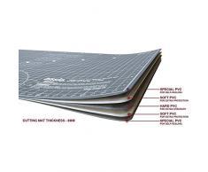 ANSIO A3 5 Strati di Tappetino da Taglio a Doppia Faccia Imperiale/metrico Auto-guarigione 17 x 11 Pollici (42 cm x 27 cm) - Marrone/Grigio