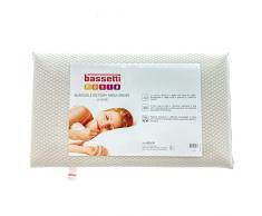 Bassetti Guanciale Lattice Memory Water - Gel Cuscino Made in Italy 40x70 cm Puro Cotone