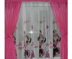 Disney Minni in Pink Tenda con passanti Cameretta in Voile 150 cm L x 157 cm A MINNIE MOUSE