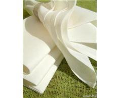 LinenMe 45 x 45 cm Tovaglioli in cotone e lino Lucia, 4 pezzi, colore bianco