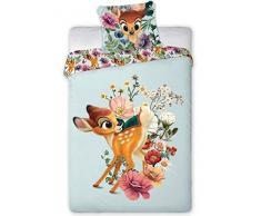 Disney Bambi 006 - Biancheria da letto per bambini, 100 x 135 cm + 40 x 60 cm