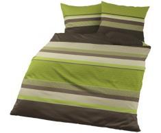 Bierbaum, Set Biancheria da letto di flanella 4630, colore: Mela, 200 x 200 cm