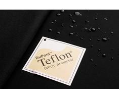 Nelson - tessuto nero Microfibra Softshell Microfleece - laminato a tre strati - Campagnolo - stoffa al metro