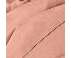 La Redoute Interieurs Unisex Copripiumone Lino Lavato Taglia 200 X 200 Cm Rosa