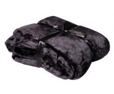 Viva Cashmere Feeling - Morbidissima coperta in microfibra, 150 x 200 cm, vari colori nero