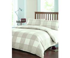 Dreams n Drapes - Set di lenzuola Newquay per letto matrimoniale, colore: Bianco