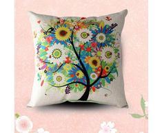 Sannysis® fodere per cuscini federa vintage di cotone stampato floreale divano(multicolor)