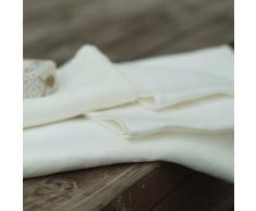 LinenMe 65 x 130 cm asciugamano da bagno in lino Lara, bianco
