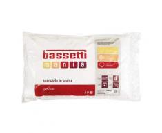 Bassetti Guanciale 100% Vera Piuma Cuscino Made in Italy Puro Cotone 50x80 cm