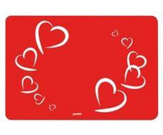 Guzzini Love Tovaglietta, Modello Love, Plastica, Rosso Trasparente, 1 pz.