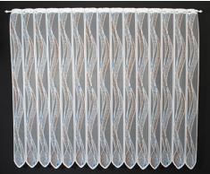 Tendina a vetro 11,5 cm onde altezza 180 cm - 180 cm altezza, poliestere, blu/marrone chiaro