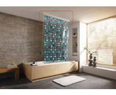 Kleine Wolke 3320100746 - Supporto per soffitto per tenda doccia 134 cm, colore: Bianco