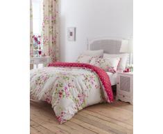 Catherine Lansfield, Set di biancheria da letto Canterbury, incl. copripiumino e 2 federe, 230 x 220 cm/50 x 75 cm, letto King Size, colore: Rosso