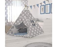 Elfique new - Tenda gioco bambino, tenda indiani bambini tenda con tappetino/ doppia coperta imbottita di Klara Brist