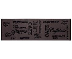 Andiamo tappeto da cucina Espresso lavabile tappeto cucina Oeko Tex Approvato, marrone, 57 x 180 cm