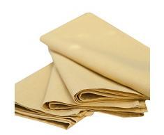 LinenMe - Tovaglioli in cotone e lino Paula, 49 x 49 cm, 4 pz, colore giallo senape