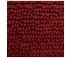 Pinzon by Amazon - Tappetino da bagno, in cotone lussuoso con lavorazione a riccio, rosso, 53 x 86 cm