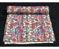 indian hippie Handmade vintage kantha Quilt. Coperta di cotone indiano boho copriletto kantha bohémien copriletto in cotone zingara camera da letto decorazione king size kantha trapunta
