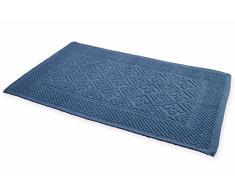 Galileo Casa 2411188 Tappeto Sardo da Bagno, Cotone, Blu, 150x60x1 cm