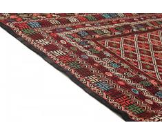 Trendcarpet Kelim - Tappeto Afghan Maliki Sumak Plain, 184 x 122 cm, Cotone, N/A
